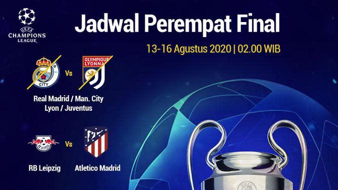 UEFA - Jadwal Perempat Final Liga Champions (Bola.com/Adreanus Titus)