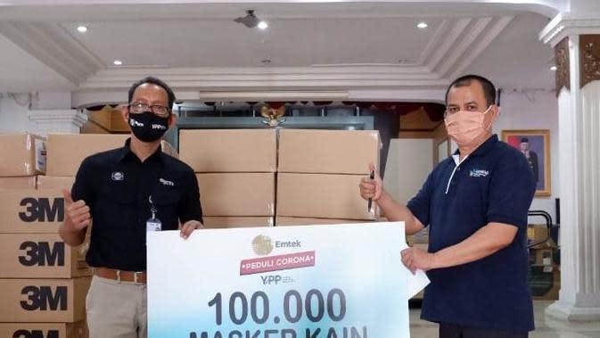 Emtek Peduli Corona, penyerahan 100 ribu masker kain dari YPP ke Pemda Jawa Tengah, Rabu (7/7/2020)