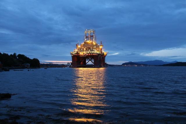 Plataforma petrolera en las costas de Noruega. Fuente de la imagen: La Nación.