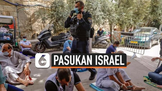 VIDEO: Potret Ramadan, Pasukan Israel Jaga Jemaah Palestina Salat