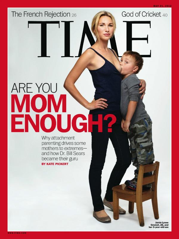 Time breastfeeding cover sparks controversy