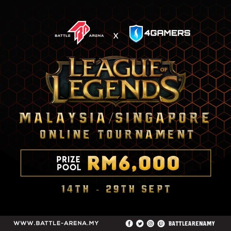 Battle Arena x $Gamers League of Legends MY/SG Tournament