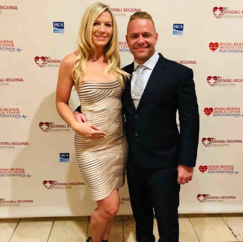 Miami doctor Daniel Sirovich pictured with fiancée Kristi Kelly.