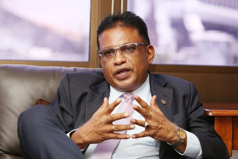 Malaysian Bar President George Varughese speaks to Malay Mail at the Bar Council in Kuala Lumpur March 14, 2019. — Picture by Choo Choy May