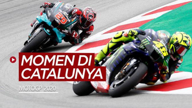 VIDEO: Momen-Momen di MotoGP Catalunya, Valentino Rossi Crash Hingga Fabio Quartararo Juara