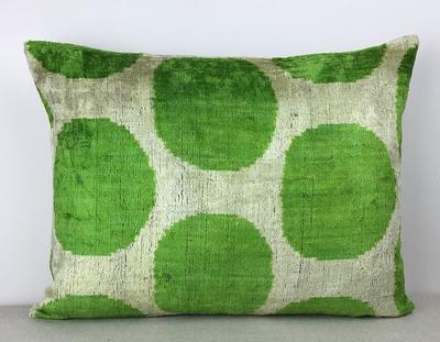 Pillow covers Handmade Silk Pillow Silk cushion cover 16x20inch- ikat velvet pillow cover Modern soft decorative pillow for couch