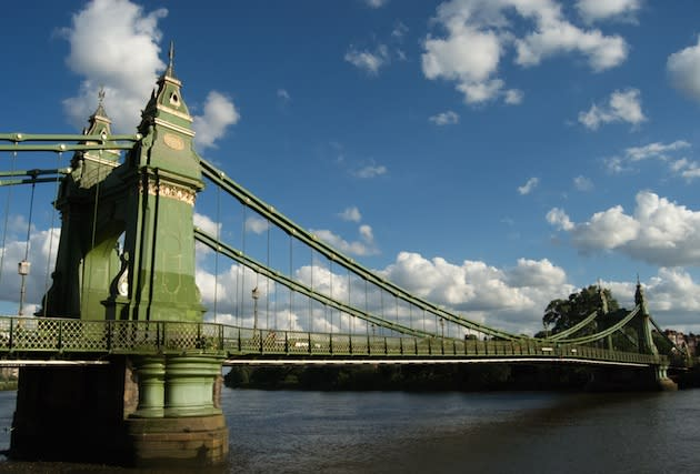 Head to Hammersmith Bridge on the Thames for a Taste of Victorian London