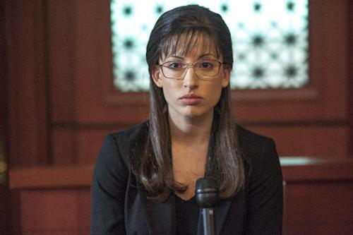 """This TV publicity image released by Lifetime shows Tania Raymonde portraying convicted killer Jodi Arias in a scene from the Lifetime movie """"Jodi Arias: Dirty Little Secret,"""" premiering Saturday, June 22, at 8:00 p.m. EST. (AP Photo/Lifetime, Jack Zeman)"""