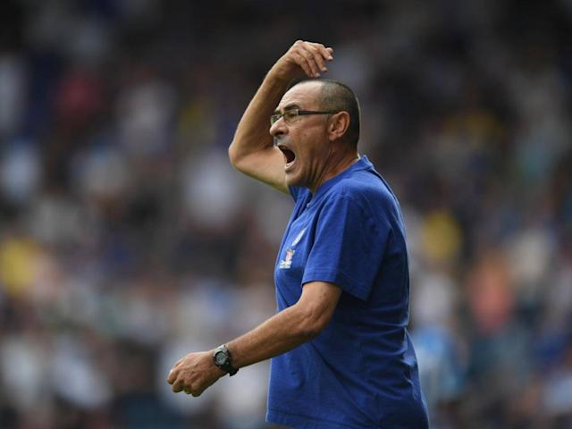 Maurizio Sarri is trying to transform the football at Stamford Bridge (Getty Images)