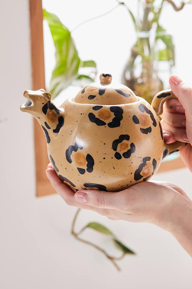 """<p>The spout of this <a href=""""https://www.popsugar.com/buy/Leopard-Teapot-476983?p_name=Leopard%20Teapot&retailer=urbanoutfitters.com&pid=476983&price=29&evar1=yum%3Auk&evar9=46470696&evar98=https%3A%2F%2Fwww.popsugar.com%2Ffood%2Fphoto-gallery%2F46470696%2Fimage%2F46471118%2FLeopard-Teapot&list1=shopping%2Curban%20outfitters%2Ckitchen%20tools%2Ckitchens%2Ckitchen%20accessories&prop13=api&pdata=1"""" rel=""""nofollow"""" data-shoppable-link=""""1"""" target=""""_blank"""" class=""""ga-track"""" data-ga-category=""""Related"""" data-ga-label=""""https://www.urbanoutfitters.com/shop/leopard-teapot?category=dinnerware&amp;color=020&amp;type=REGULAR"""" data-ga-action=""""In-Line Links"""">Leopard Teapot</a> ($29) is genius.</p>"""