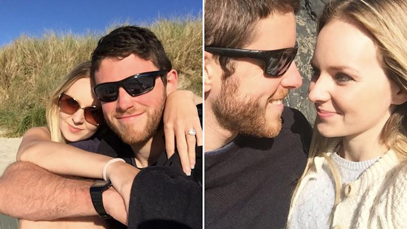Photos of Lissie Harper and Andrew Harper together, smiling.