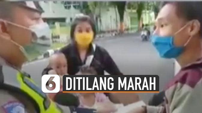 VIDEO: Viral Pengendara Motor Tak Pakai Helm Marah-Marah Ditilang Polisi
