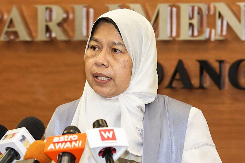 Housing and Local Government Minister Zuraida Kamaruddin today dismissed concerns regarding a planned Islamic township called Raudhah Ville, which is located in Cyberjaya. — Picture by Miera Zulyana