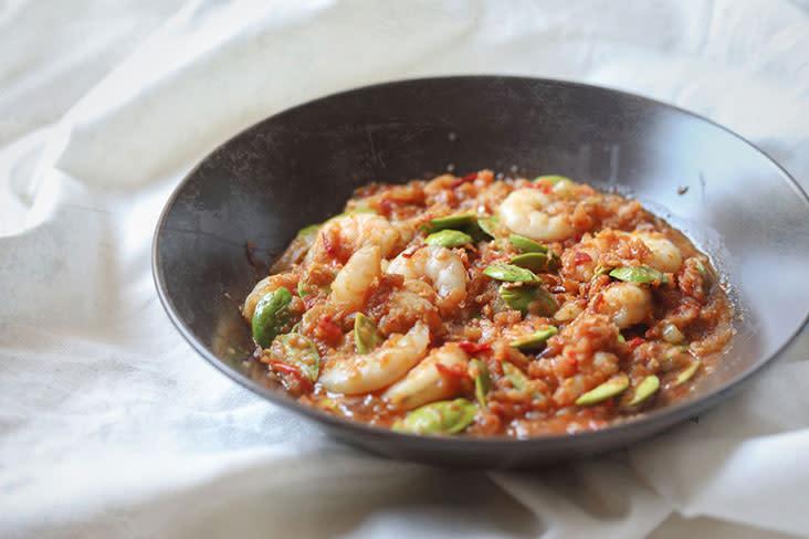 A Thai-style take on sambal petai prawns – pictures by CK Lim