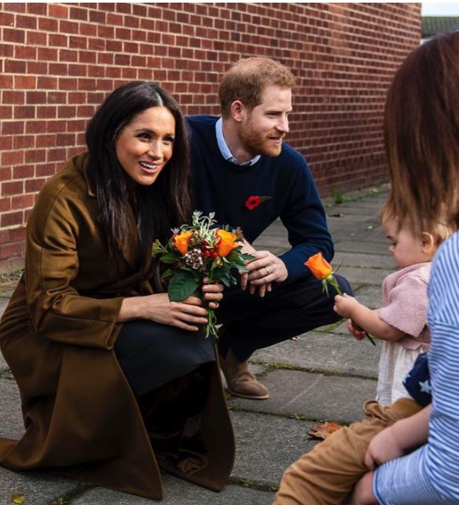 The duke and duchess were a hit with parents and kids alike. Photo: Instagram/sussexroyal.