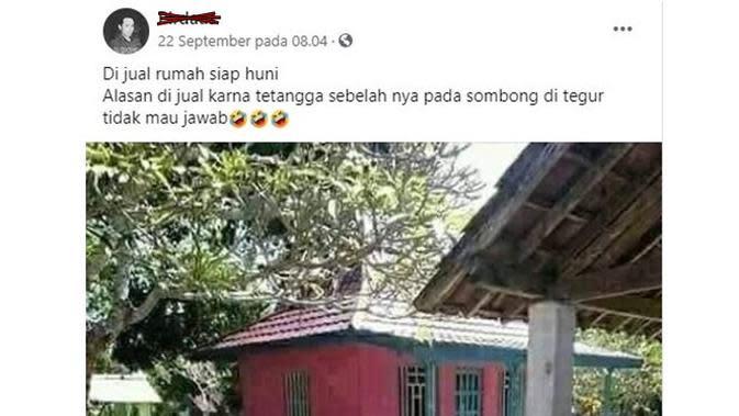 6 Status Facebook Jual Rumah Ini Kocak Bikin Ketawa (sumber: Facebook Pirdaus)