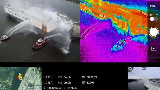 Kapal Kargo Buatan China Terbakar di AS, Ribuan Mobil Meleleh