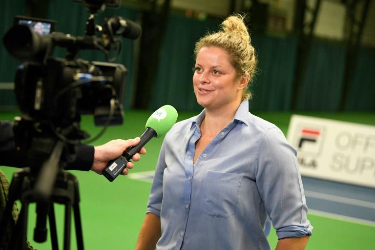 Back in business: Former world number one Kim Clijsters returns in Dubai
