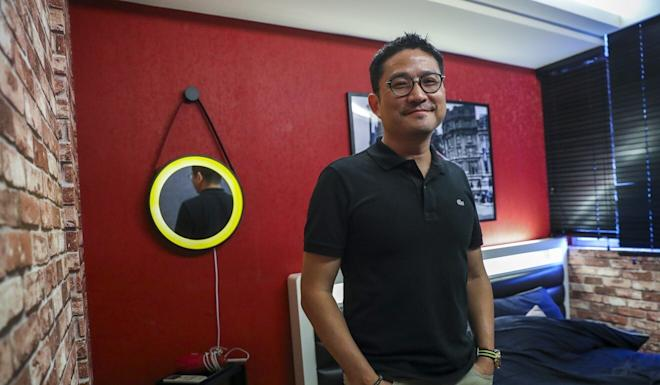 "Kenneth Lee has developed an app that lets users book a short-stay hotel room and he has partnered up the businesswoman behind the sex doll ""brothel"". Photo: Edmond So"