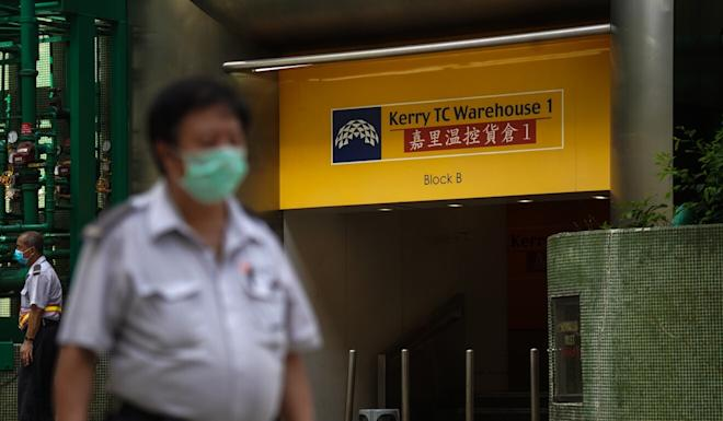 A woman who worked at Kerry Logistics's temperature-controlled food warehouse was confirmed to have Covid-19 on Sunday. Two colleagues tested positive for the virus. Photo: Winson Wong