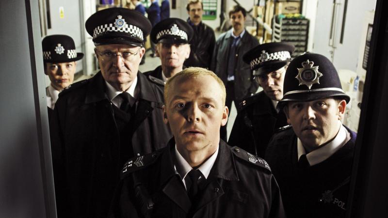 Edgar Wright's cop comedy 'Hot Fuzz'. (Credit: Universal)