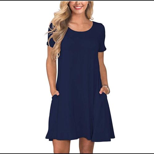 Korsis Women's Casual T-Shirt Dresses Short Sleeve Swing Dress. (Photo: Amazon)