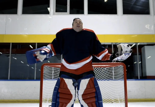 Jimmy Fallon is backup goalie assuming starter's role in NBC Tonight Show promo (Video)