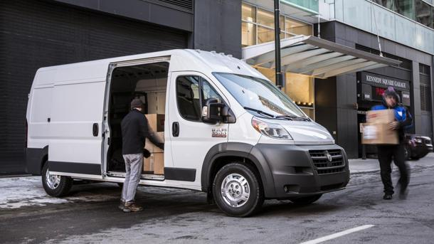 2014 Ram ProMaster full-size van leads with its chin