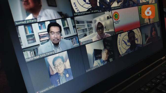 Webminar Koalisi Masyarakat Profesi dan Asosiasi Kesehatan (KoMPAK) (20/5/2020).