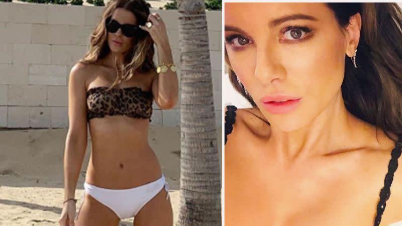 Kate Beckinsale, 46, mendesis dalam bikini liburan