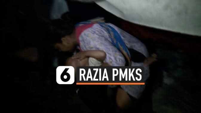 VIDEO: Satpol PP Razia Gelandangan di Karet Tengsin