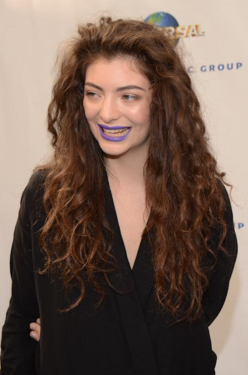 Lorde seen at Universal Music Brunch to Celebrate the 56th Annual GRAMMY Awards, on Saturday, Jan. 25, 2014 in Hollywood, Calif. (Photo by Tonya Wise/Invision/AP)