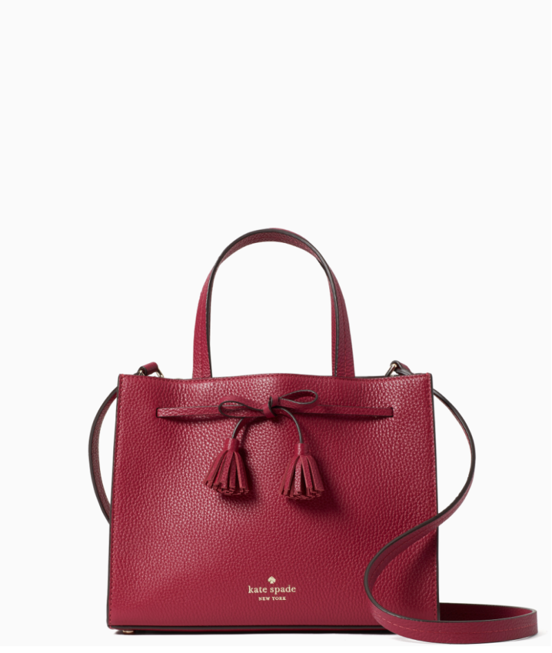 Kate Spade Hayes Small Satchel Bag in Cranberry Cocktail (Photo via Kate Spade)