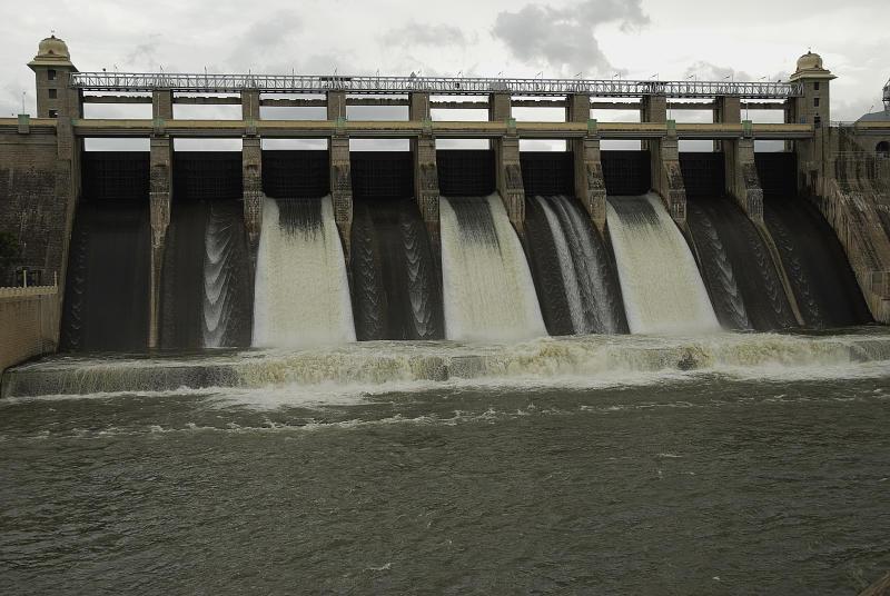 Amaravathi Dam, Coimbatore District, Tamil Nadu, India.
