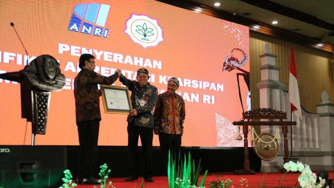 Kementan Raih 2 Penghargaan Sekaligus dari ANRI