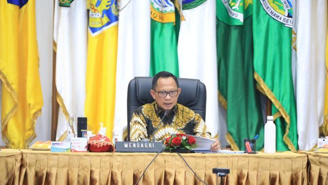 Mendagri Tito membuka Rapat Koordinasi Pencapaian Target Realisasi APBD 2020.