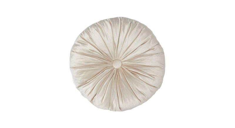 Round velvet cushion
