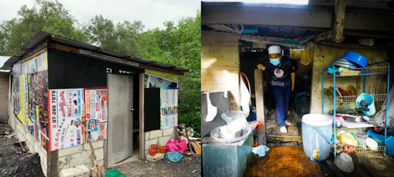 After seeing the conditions in which these families lived in, Ebit felt that he had to do something about it. — Pictures via Facebook/Ebit Lew