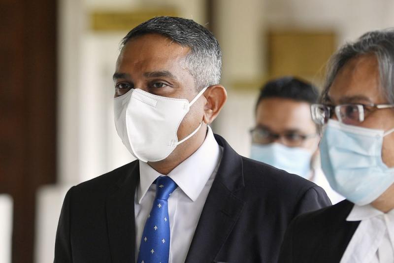 Lawyer Datuk Mohd Hafarizam Harun is pictured at the Kuala Lumpur High Court August 3, 2020. — Picture by Ahmad Zamzahuri