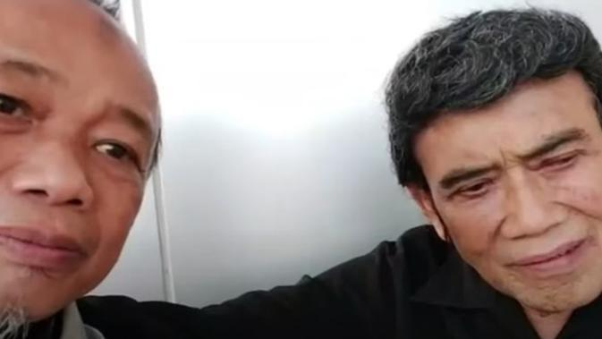 Rhoma Irama dan sahabatnya ustaz Hasan Bisri