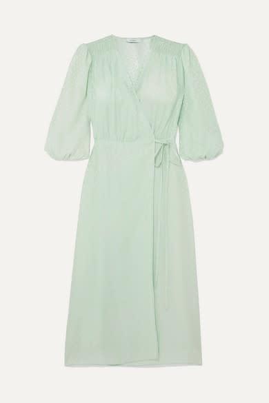 Art Dealer Sophia Polka Dot Wrap Dress