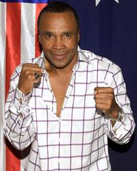 Sugar Ray Leonard Shows Hugh Jackman the Ropes for 'Real Steel'