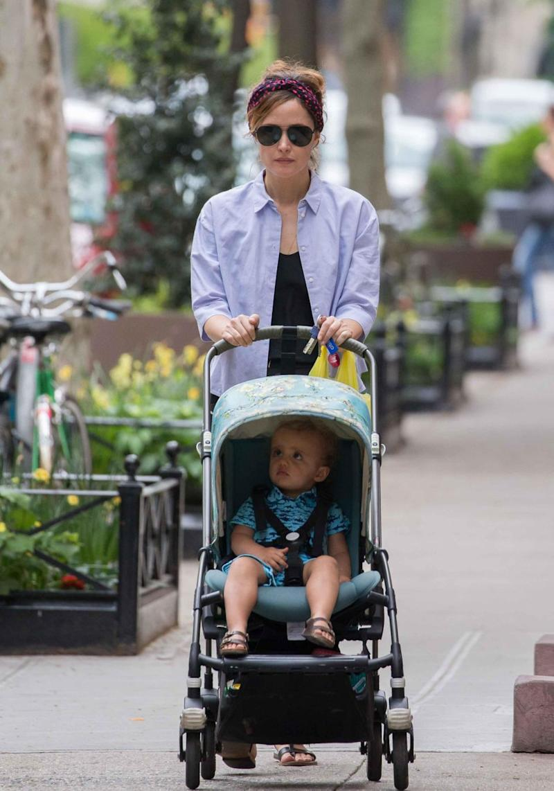 The couple are already parents to 22-month-old son Rocco. Rose is pictured here out and about with him in NYC earlier this year. Source: Getty