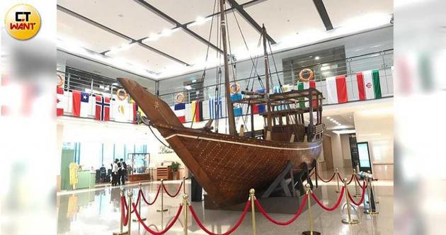 張榮發文教基金會今天於長榮海事博物館內,召開董事會。(圖/李蕙璇攝)