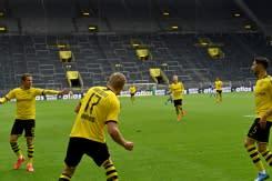 Pemandangan aneh dari digelarnya kembali Bundesliga