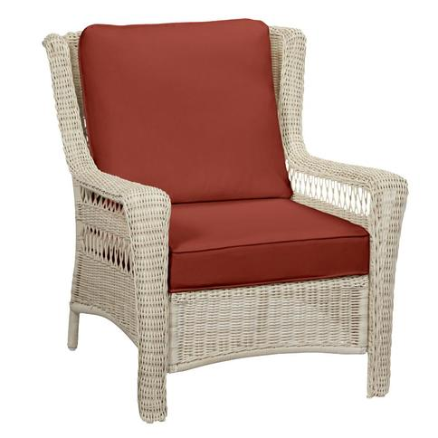 Hampton Bay Park Meadows Off White Wicker Outdoor Patio Lounge Chair With Sunbrella Henna Red Cushions Yahoo Shopping