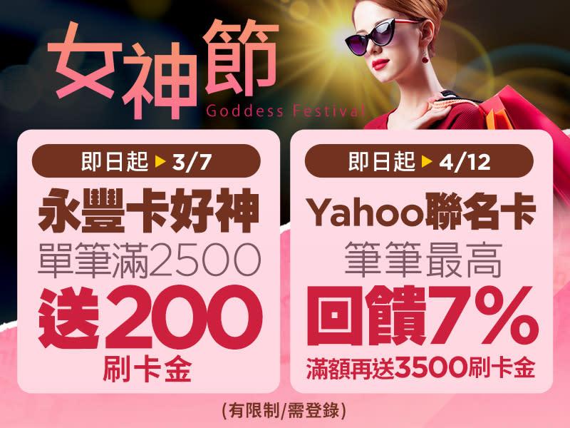 女神低價攻略1:Yahoo卡週慶回饋最神