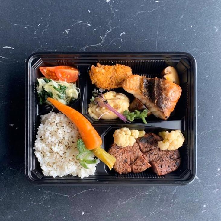 Chipta11a has started a delivery menu featuring bento sets like this one with Black Angus beef tenderloin and red snapper — Picture from Chipta11a's Instagram