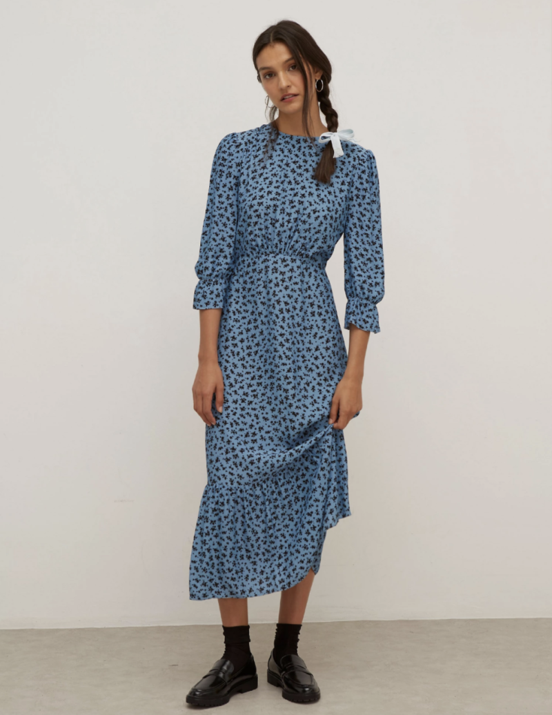Floral Midi Waisted Dress (Nobody's Child/ M&S)