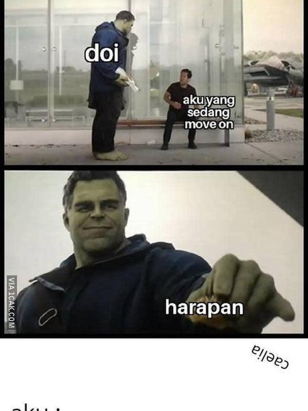 Meme susah move on (Sumber: 1cak.com)